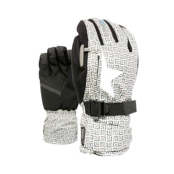 gants ski snow hiver level gris blanc. Black Bedroom Furniture Sets. Home Design Ideas