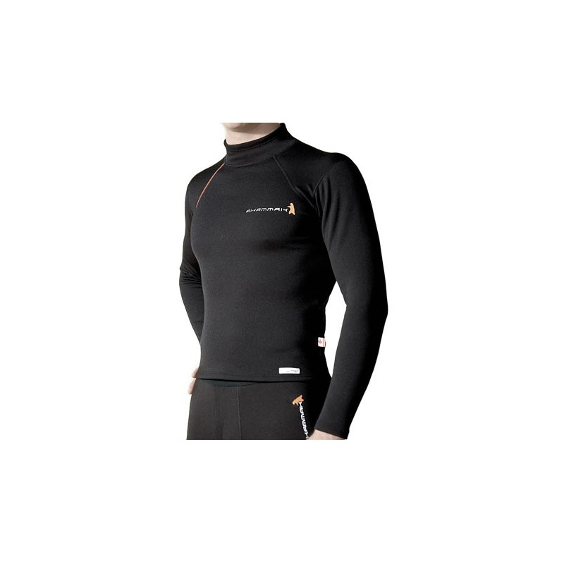 TURTLE MAILLOT COL MONTANT LONG BLACK
