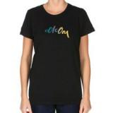 Volcom tee shirt femme CORE SCRIPT BABY TEE BLACK