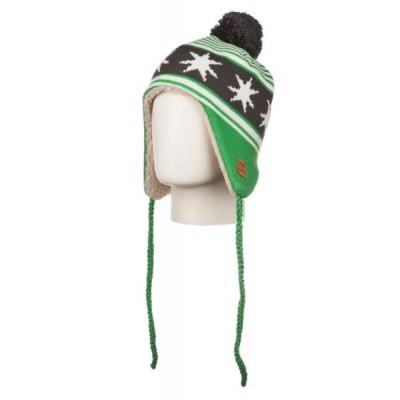 Dc Shoes Bonnet Péruvien À Pompon Flapstar Emerald