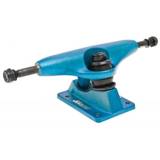 Globe truck slant std colored horizon blue