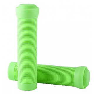 GRIPS FLANGELESS WITH END PLUGS APPLE GREEN