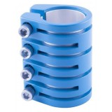 SNAKE CLAMP 4 BOLT WITH SHIM MATT BLUE