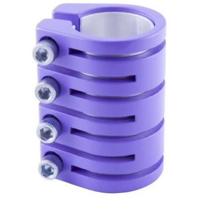 Snake Clamp 4 Bolt With Shim Matt Purple