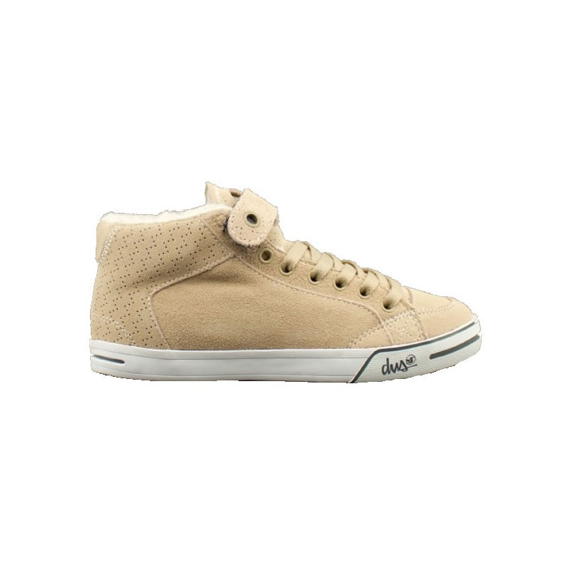 DVS chaussures femme FARAH MID TAN SUEDE SHERPA