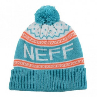 Neff bonnet pompon FLAKE BEANIE TEAL / ORANGE