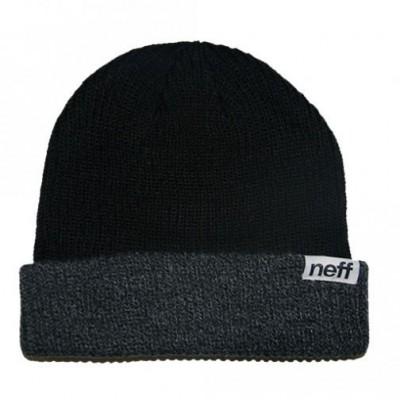 Neff Bonnet À Revers Fold Double Beanie Black / Grey Heather